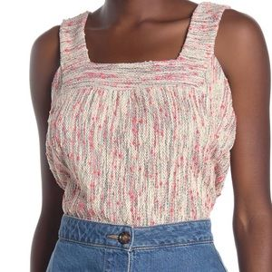 Lucky Brand Square Neck Knit Tank Top Large